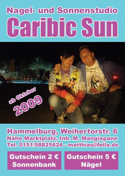 Flyer Sonnenstudio & Nagelstudio Caribic Sun in Hammelburg
