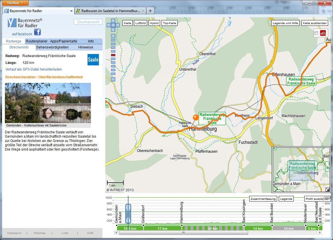 Radwanderweg Fränkische Saale - Radwandern im Fränkischen Saaletal